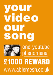 yourvideooursong-one youtube phenomena - £1000 reward poster